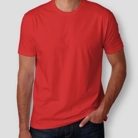 Camiseta Básica Vermelha Masculina Foto