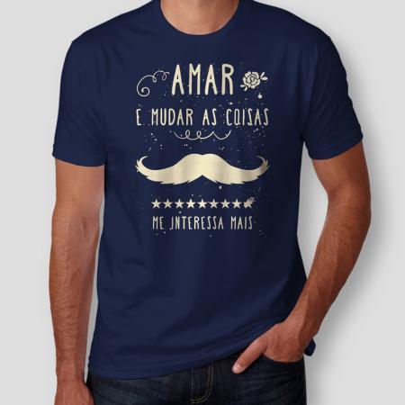 Camiseta Belchior Alucinacao Masculina Azul Marinho