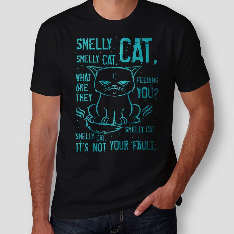 Camiseta Smelly Cat Friends Masculina Capa