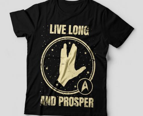 Camiseta Star Trek Feminina Capa