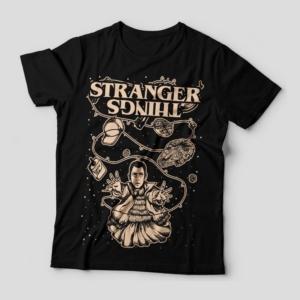 Camiseta Stranger Things Eleven Feminina Capa