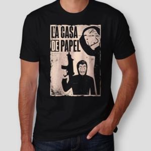Camiseta La Casa de Papel Masculina Capa