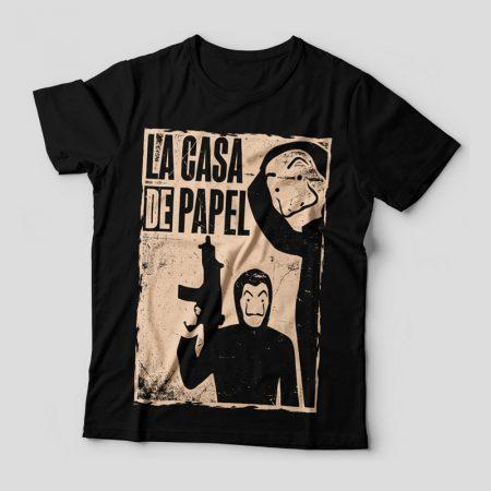 Camiseta La Casa de Papel Feminina Capa
