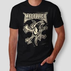 Camiseta Metallica Masculina Capa