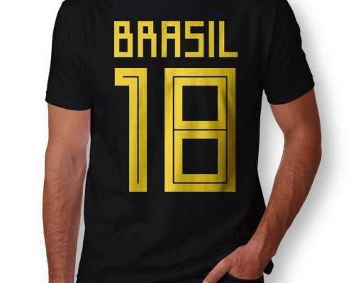 Camiseta Brasil 2018 Masculina Zoom
