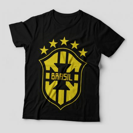 Camiseta Brasil Escudo Feminina Capa