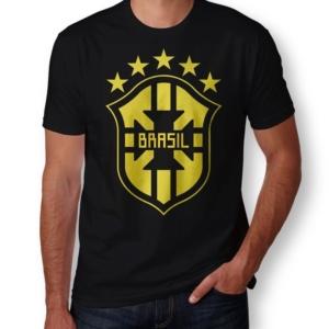 Camiseta Brasil Escudo Masculina Capa