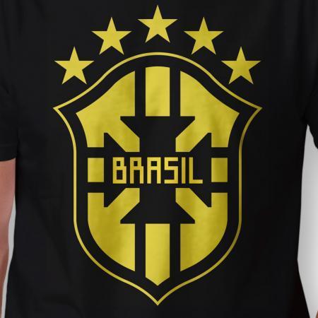 Camiseta Brasil Escudo Masculina Zoom