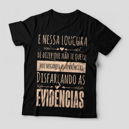 Camiseta Evidências Feminina Capa
