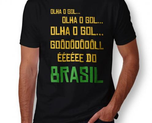 Camiseta Gol Do Brasil Masculina Capa
