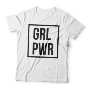 Camiseta GRL PWR - Girl Power Feminina Branca