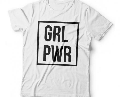 Camiseta GRL PWR - Girl Power Feminina Branca