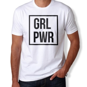 Camiseta GRL PWR - Girl Power Masculina Branca