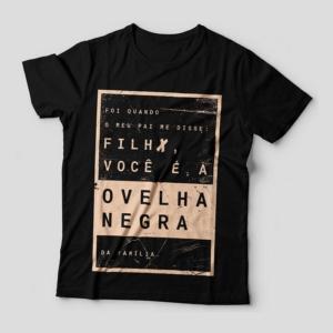 Camiseta Ovelha Negra Feminina Capa