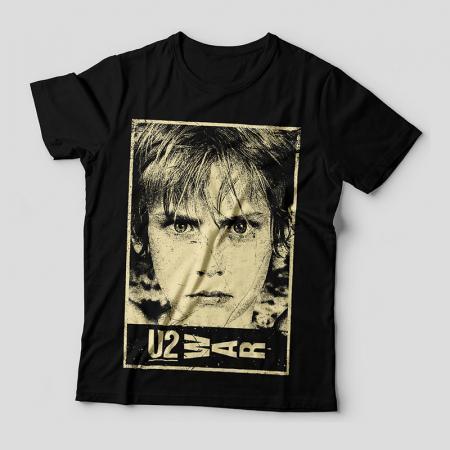 Camiseta U2 WAR Feminina Capa