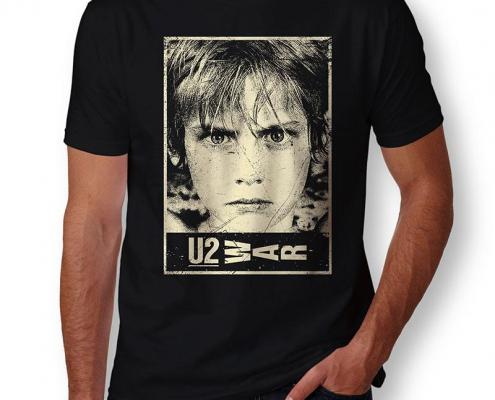 Camiseta U2 WAR Masculina Capa