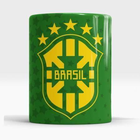 Caneca Brasil Escudo Arte