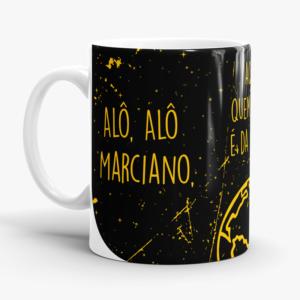 Caneca Alô Alô Marciano Cerâmica 325ml Alça Branca