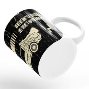 Caneca Back To The Future Cerâmica 325ml Alça Branca