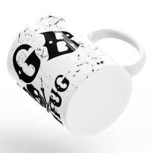 Caneca CBGB & OMFUG Punk Rock Alça Branca