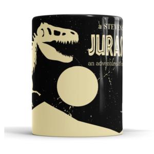 Caneca Jurassic Cerâmica 325ml Alça Branca
