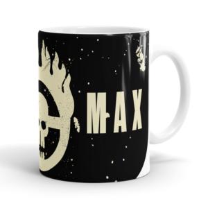 Caneca Mad Max Cerâmica 325ml Alça Branca