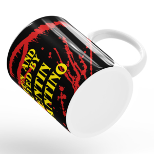 Caneca Written And Directed By Quentin Tarantino Cerâmica 325ml Alça Branca
